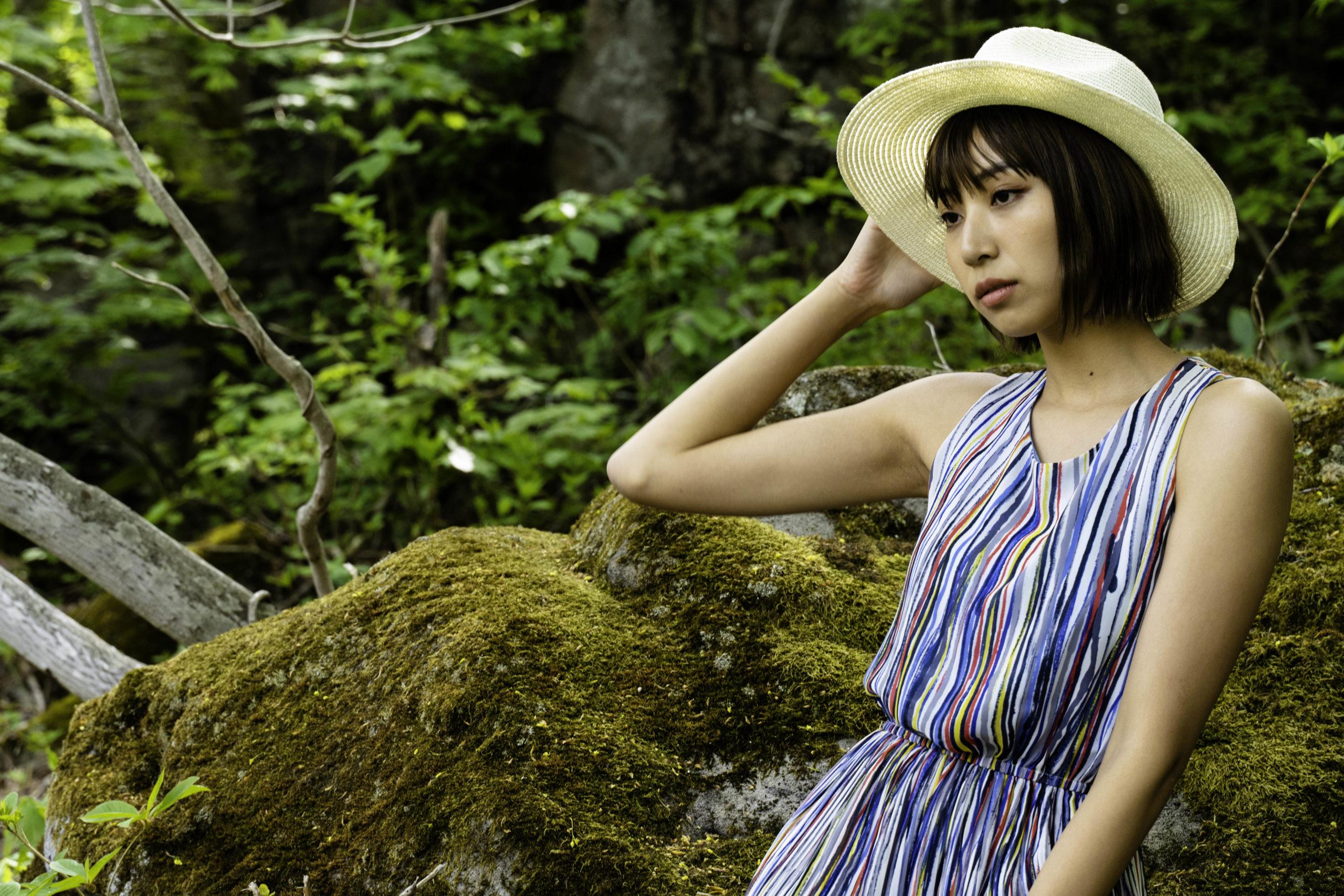志賀高原での古賀あかねさんの写真