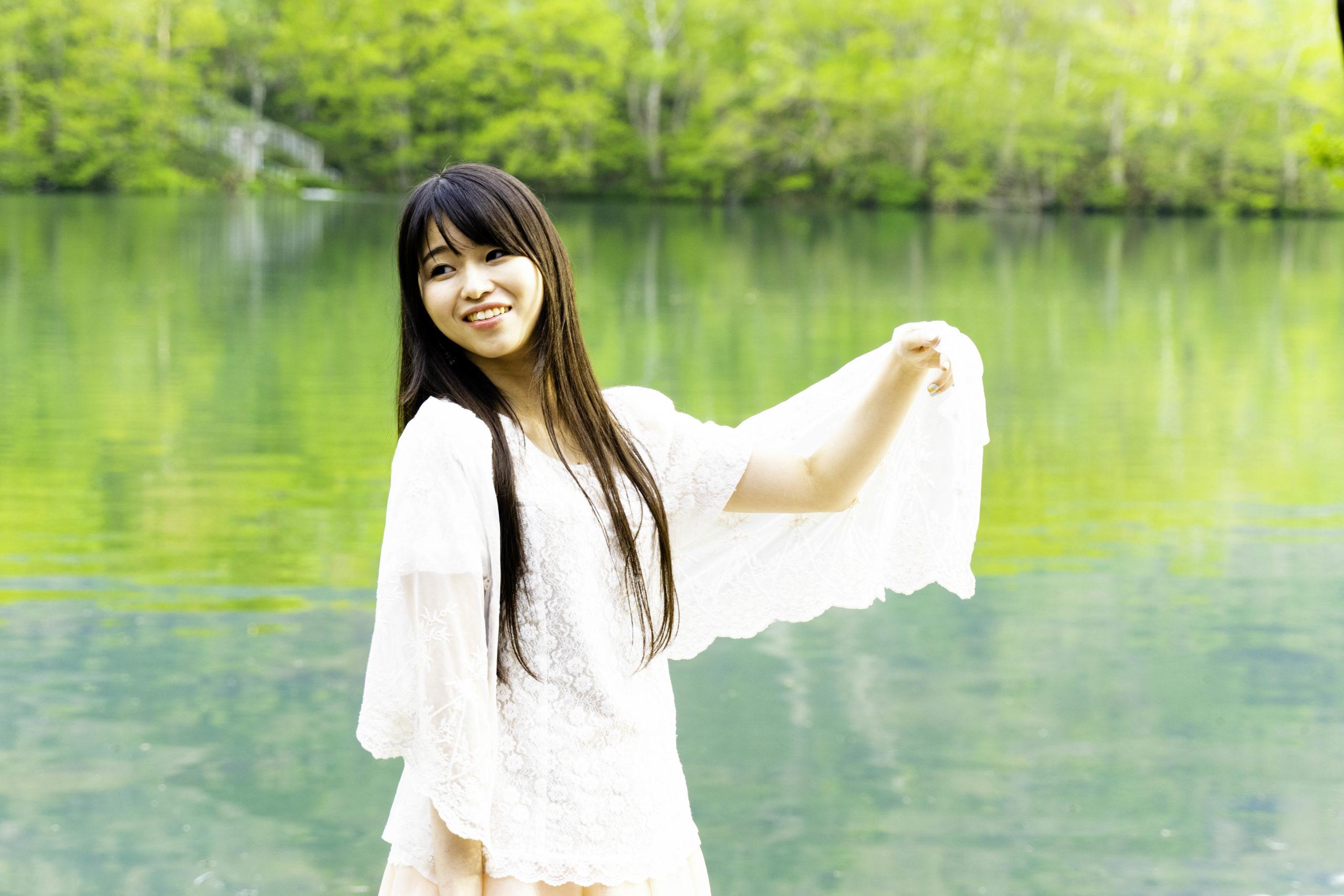 志賀高原での透子さんの写真