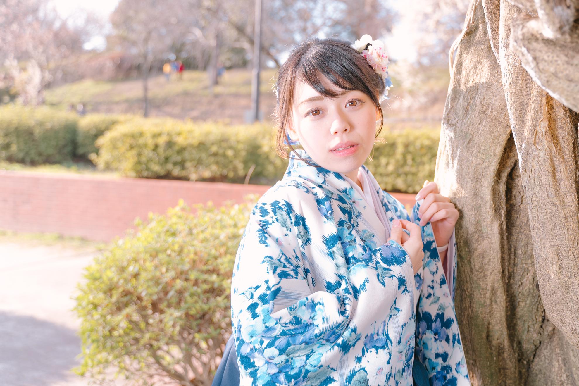 仙台市での卒業式での袴撮影